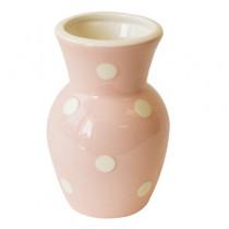 Pink/White Dots Vase