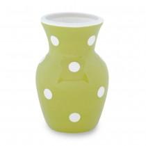 Green White  Dots Vase