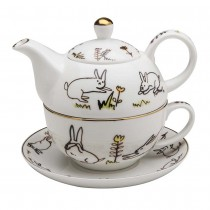 Bunny Meadow Tea for One Set