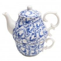 Blue Rooster 3 Piece Tea For One