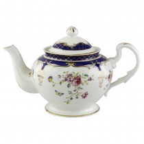 Navy Rose Teapot
