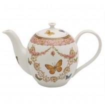 Pink Butterfly Tall Teapot