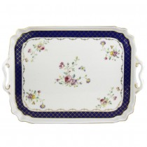 Navy Rose 15 Inch Serving Tray