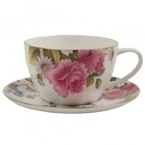 Grace's Rose Jumbo Cup & Saucer