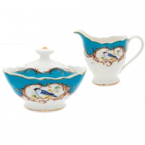 Finch Peacock Blue Sugar and Creamer Set