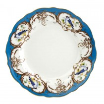 Finch Peacock Blue Dessert Plates, Set of 4