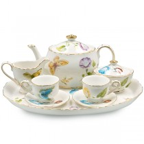 Karly's Butterflies 10 Piece Tea Set for Kids