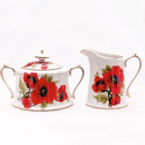 Poppy Sugar and Creamer Set