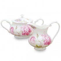 Dahlia Sugar and Creamer Set