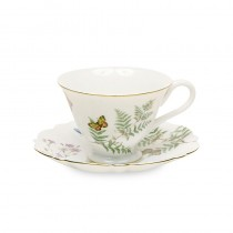 Butterfly Tea Cups and Saucers, Set of 4