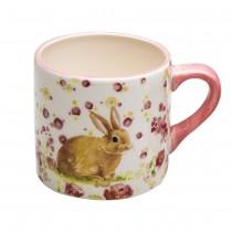 Spring flower Bunny Sitting Mugs, Set of 4