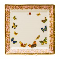 Pink Butterfly Square Platter