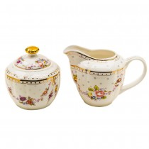 Rose Swag Sugar and Creamer Set