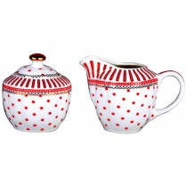 Red Josephine Sugar Creamer Set