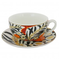 Sweet Leaves Latte Cups & Saucers, Set of 2
