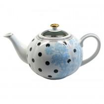 Scallop Navy Teapot