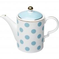 Polka Dots Light Blue Coffee/Tea Pot