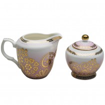 Pink Lace Berry Sugar and Creamer Set