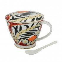 Sweet Leaves Mug & Cover & Spoon 3 PC Set