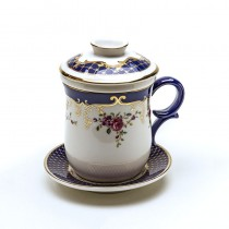 Navy Rose 4 Piece Tea for Me Set