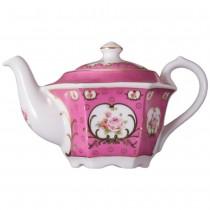 Victorian Pink Rose Hexagonal Teapot