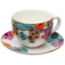 Meadow Joy Tea Cups and Saucers, Set of 4