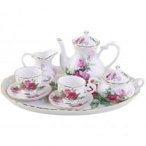 Rose Garden 10 Piece Tea Set for Kids