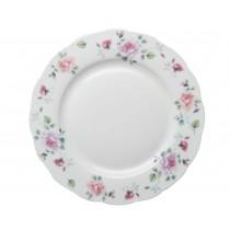 Romantic Rose Scallop Dinner Plates, Set of 4