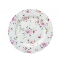Romantic Rose Scallop Dessert Plates, Set of 4