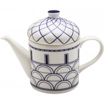 Architecture Navy Blue Craft Teapot