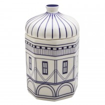 Architecture Navy Blue Craft Large Canister