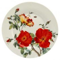 Rose and Poppy Dessert Plates, Set of 4