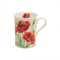 Wild Poppy Can Mugs, Set of 4