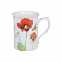 Wild Poppy Can Mugs, Set of 4