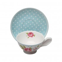 Alice Garden Cups and Saucers Set, Set of 4