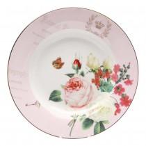 Liz Garden Pink Soup Plates, Set of 4