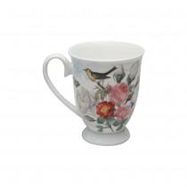 Liz Garden Blue Footed Mugs, Set of 4