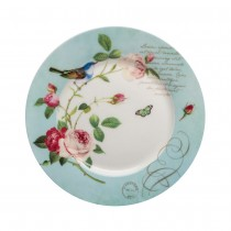 Blue Jay Dessert Plates, Set of 4