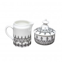 Black Moroccan Rose Sugar and Creamer Set