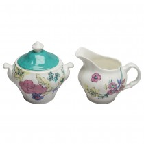 Bali Turq Sugar and Creamer Set
