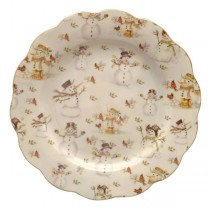 Snowman Dessert Plates, Set of 4