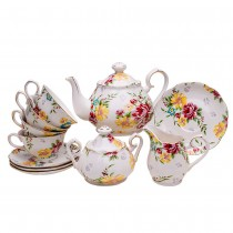 Shabby Rose Cream 11 Piece Tea Set