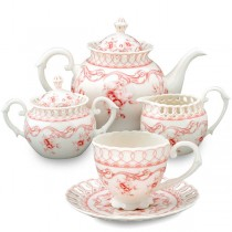 Pink Vine 11 Piece Tea Set