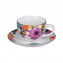 Meadow Joy Espresso Cups and Saucers, Set of 4