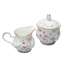 Romantic Rose Sugar and Creamer Set