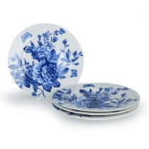 Blue Peony Bouquet 7.5-Inch Dessert Plates, Set of 4