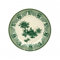 Green Toile Salad Plates, Set of 4