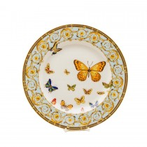 Blue Butterfly Dinner Plates, Set of 4