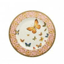 Pink Butterfly Dessert Plates, Set of 4