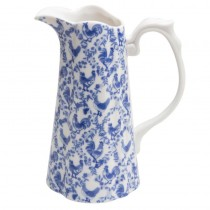 Blue Rooster Pitcher